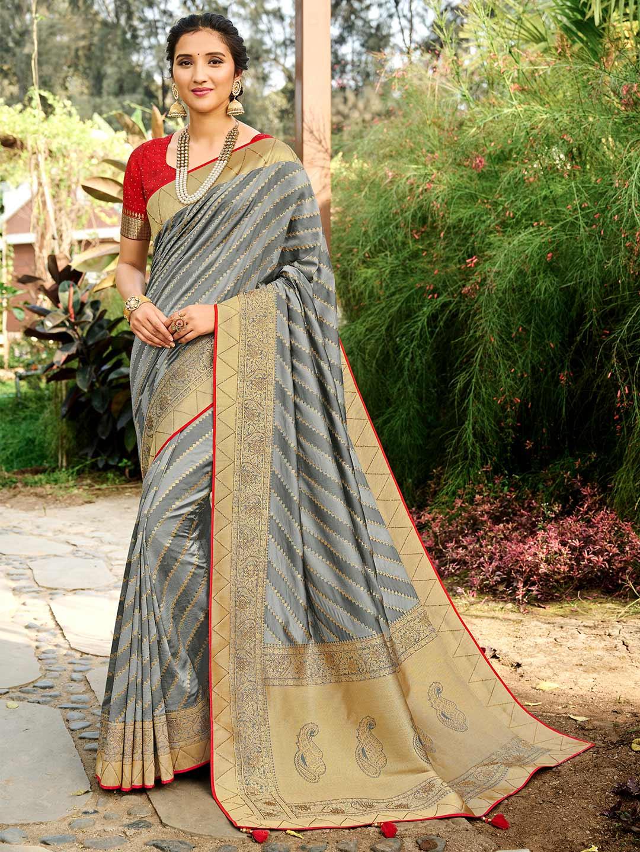 Grey colour wedding session saree?imgeng=w_400