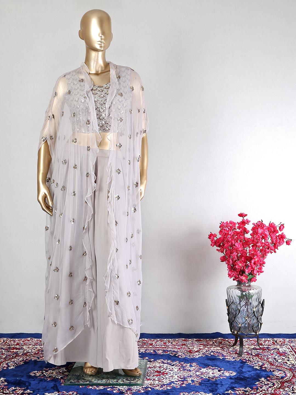 Grey georgette wedding palazzo suit?imgeng=w_400