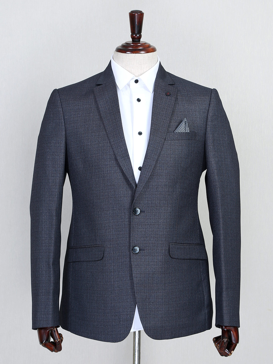Grey hue terry rayon fabric solid coat suit?imgeng=w_400