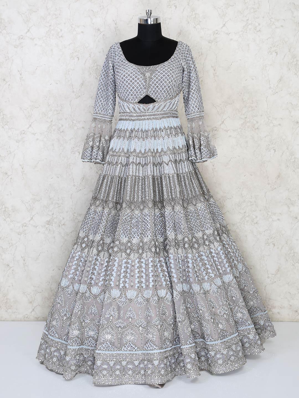 Grey net wedding wear designer gown?imgeng=w_400