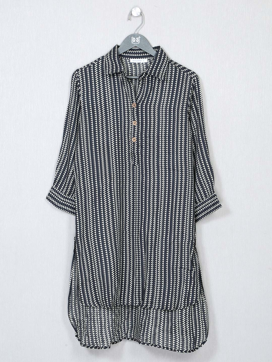 Grey printed poly cotton top for women?imgeng=w_400