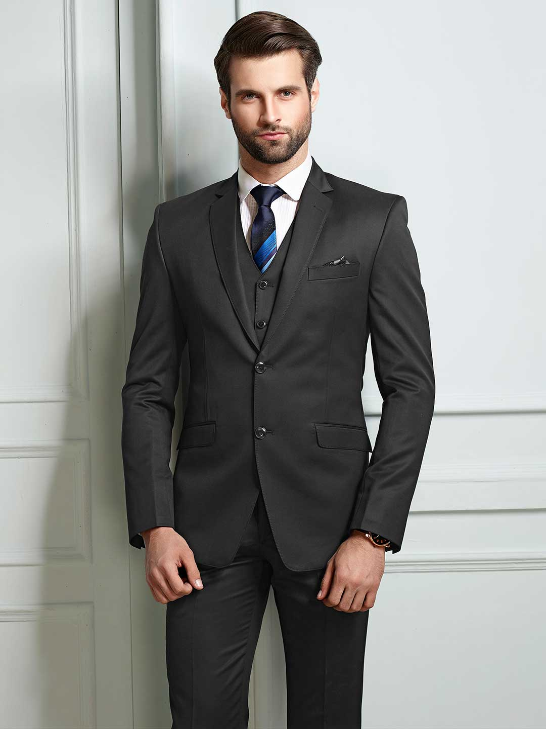 Grey solid terry rayon fabric party mens coat suit?imgeng=w_400