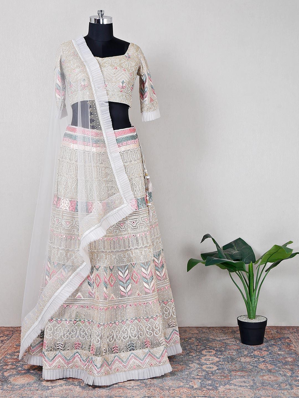 Grey wedding wear net lehenga for women?imgeng=w_400
