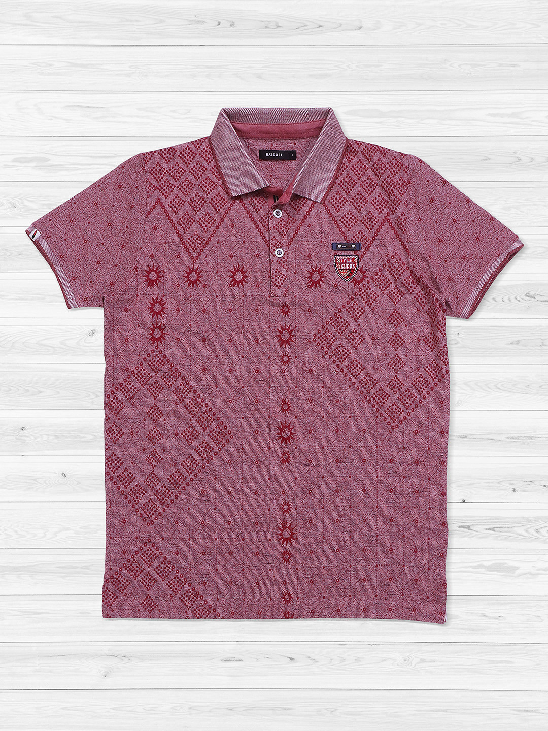 Hats Off printed maroon color t-shirt?imgeng=w_400
