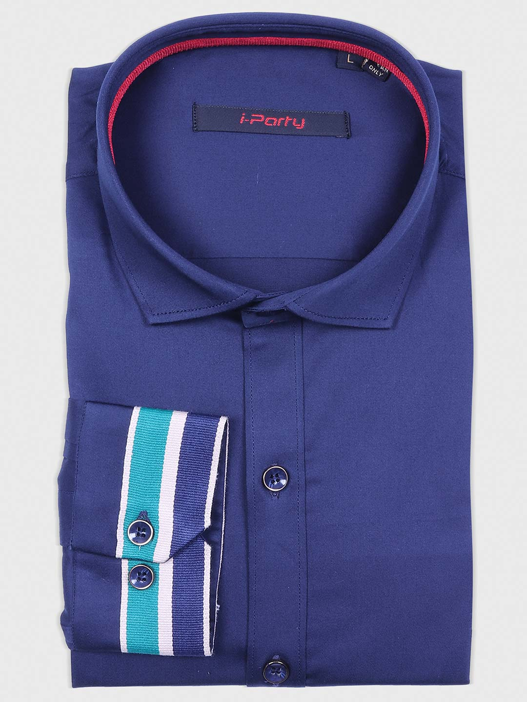 I Party blue colored solid shirt?imgeng=w_400