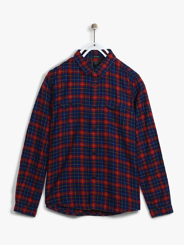 Indian Terrain navy cotton shirt?imgeng=w_400