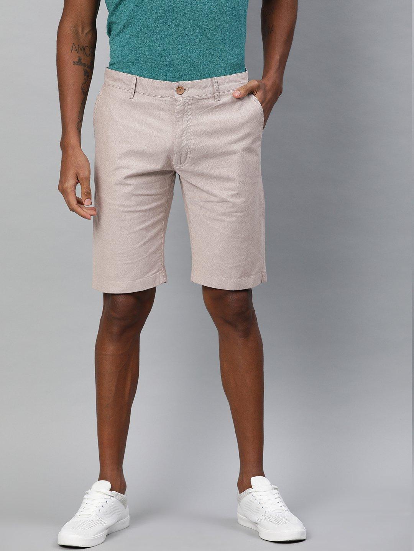 Indian Terrain solid beige cotton short?imgeng=w_400
