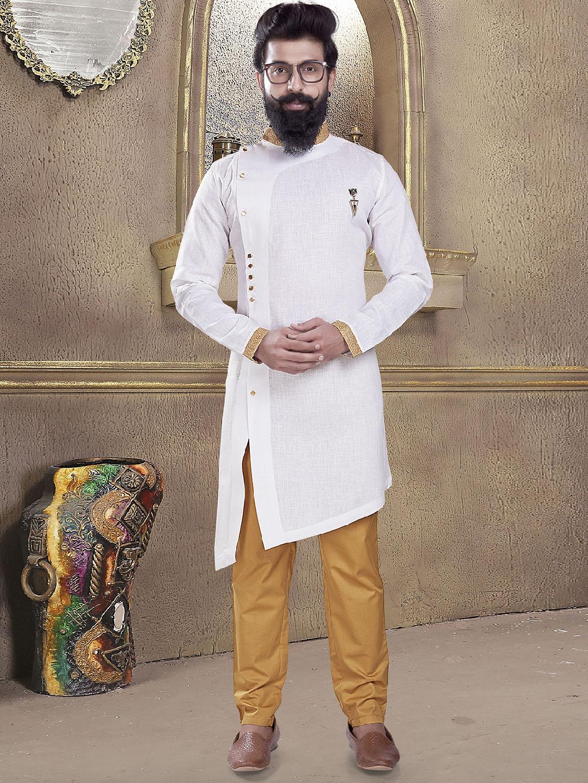 Ivory white color plain kurta suit?imgeng=w_400
