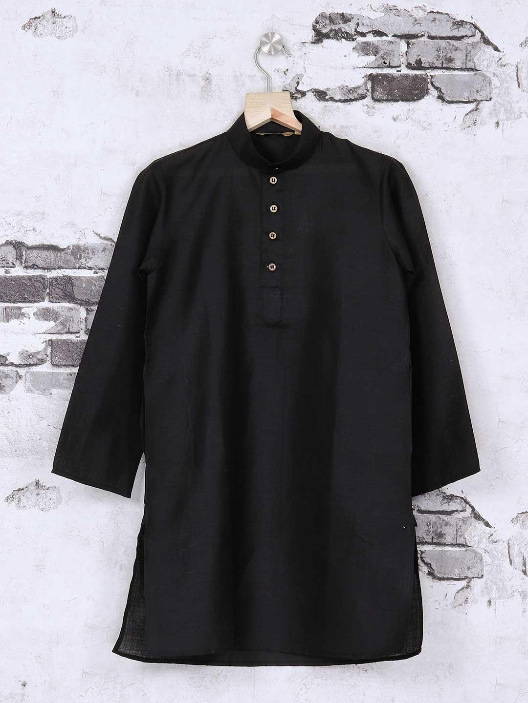 Jet black festive kurta suit for boys?imgeng=w_400