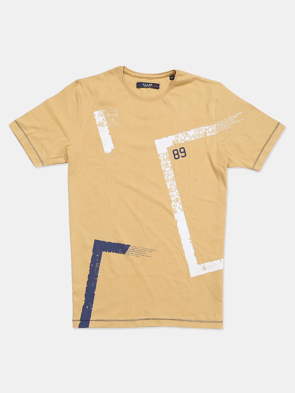 Killer khaki printed cotton slim fit mens t-shirt?imgeng=w_400