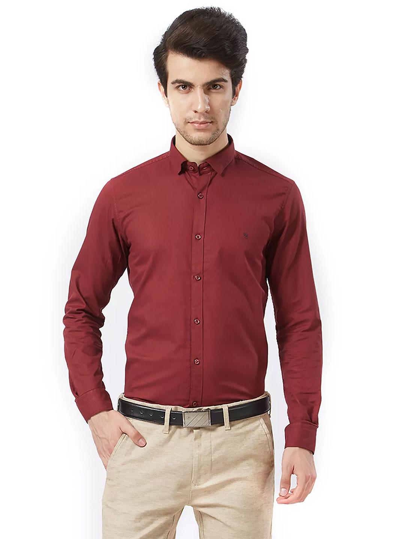 Killer solid maroon cotton fabric shirt?imgeng=w_400
