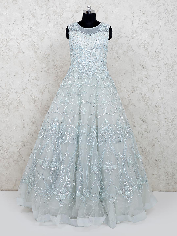 Latest designer floor length net blue gown for wedding?imgeng=w_400
