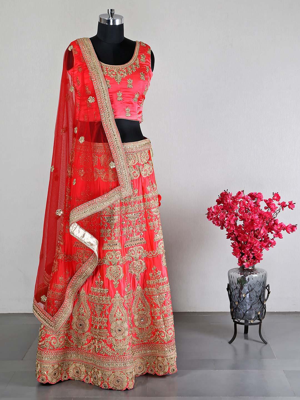 Latest designer magenta silk wedding unstitched lehenga choli?imgeng=w_400