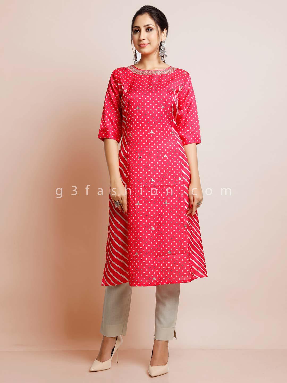 Latest magenta cotton festive kurti?imgeng=w_400