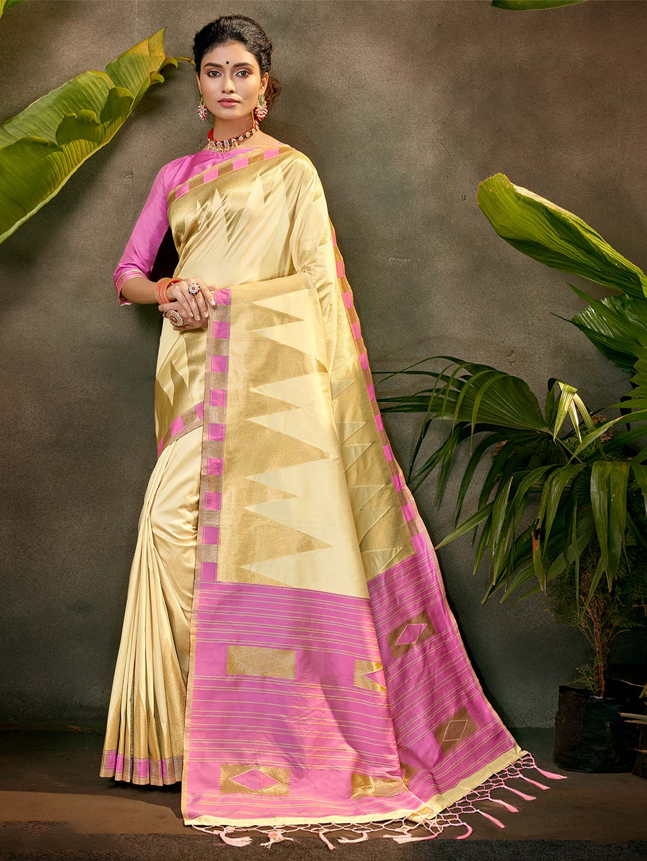 Latest party wear saree in beige silk?imgeng=w_400