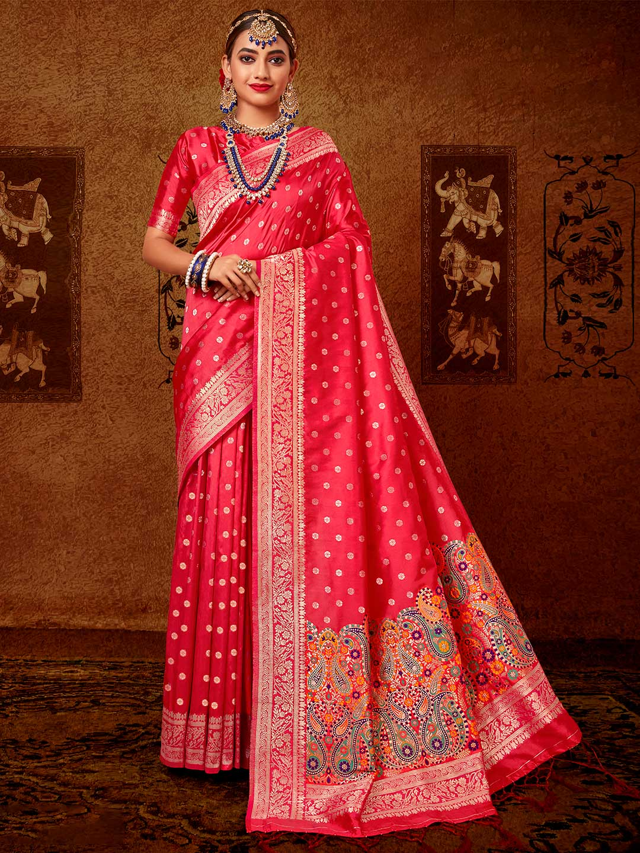 Latest pink banarasi silk saree for wedding?imgeng=w_400