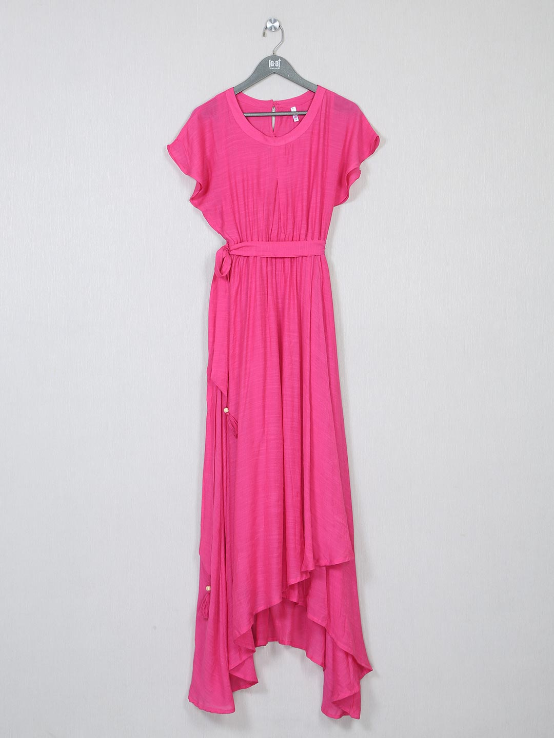 Latest pink solid poly cotton dress?imgeng=w_400