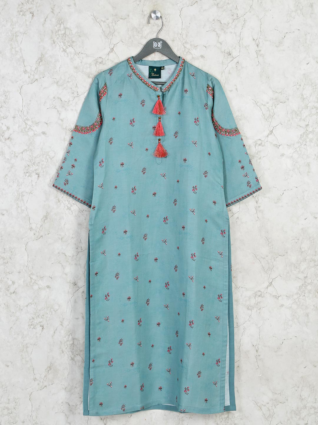 Latest printed green cotton kurti for casual outing?imgeng=w_400