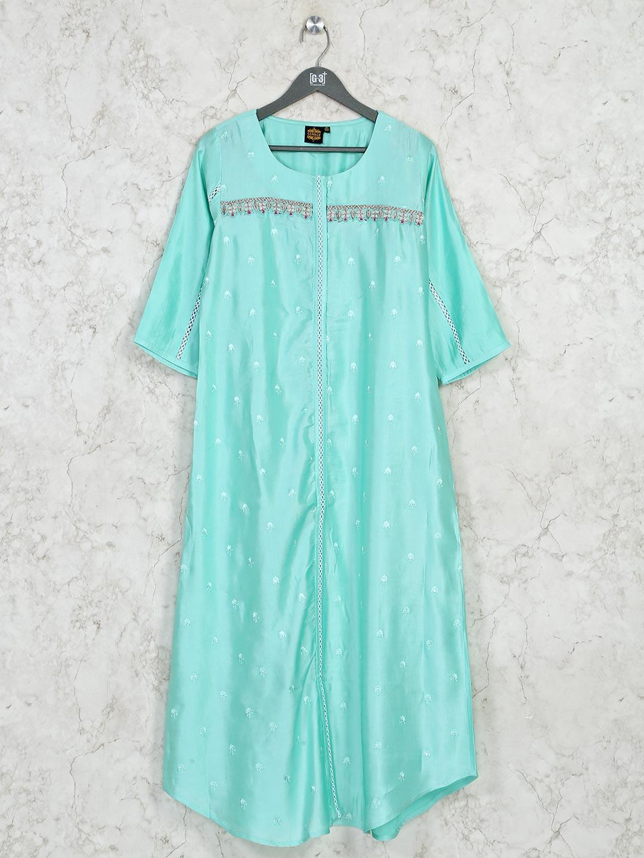 Latest Printed sea green cotton casual kurti?imgeng=w_400