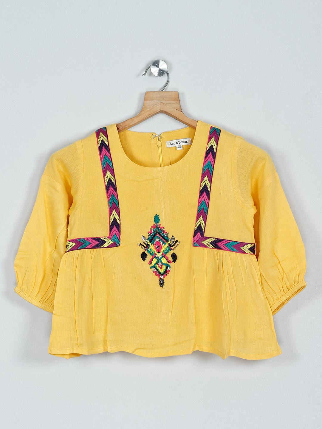 Leo N Babes casual cotton top in yellow?imgeng=w_400