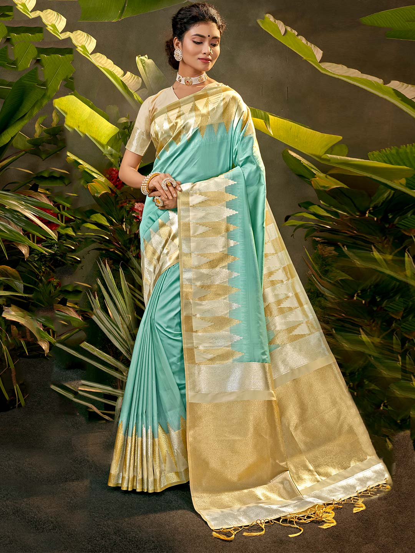 Light blue party wear silk saree?imgeng=w_400