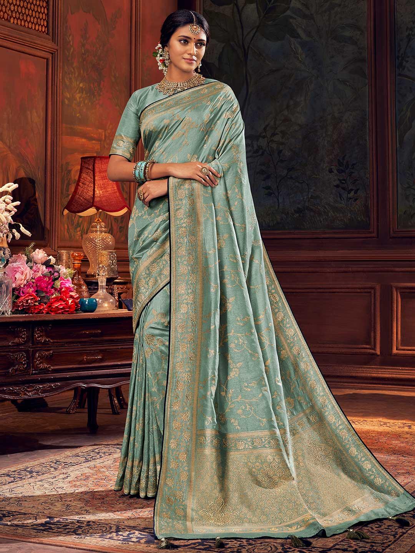 Light blue wedding wear silk saree?imgeng=w_400
