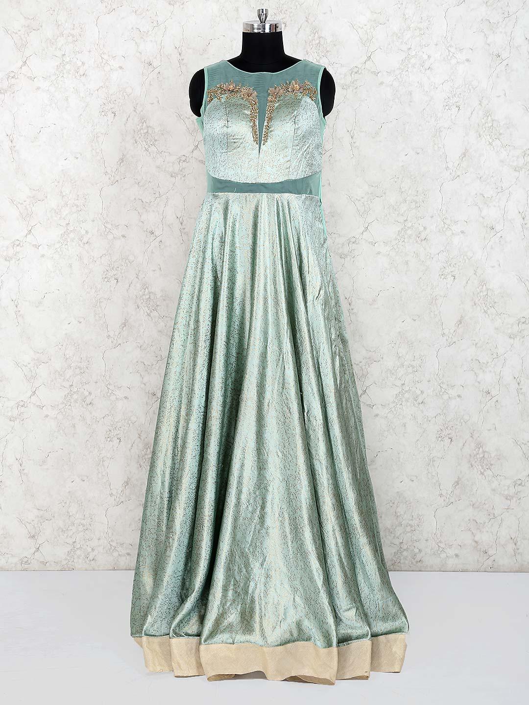 Light green color silk designer gown?imgeng=w_400