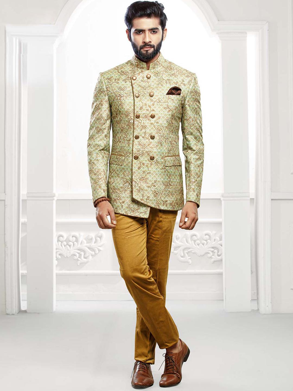 Light green colored party wear jodhpuri suit?imgeng=w_400