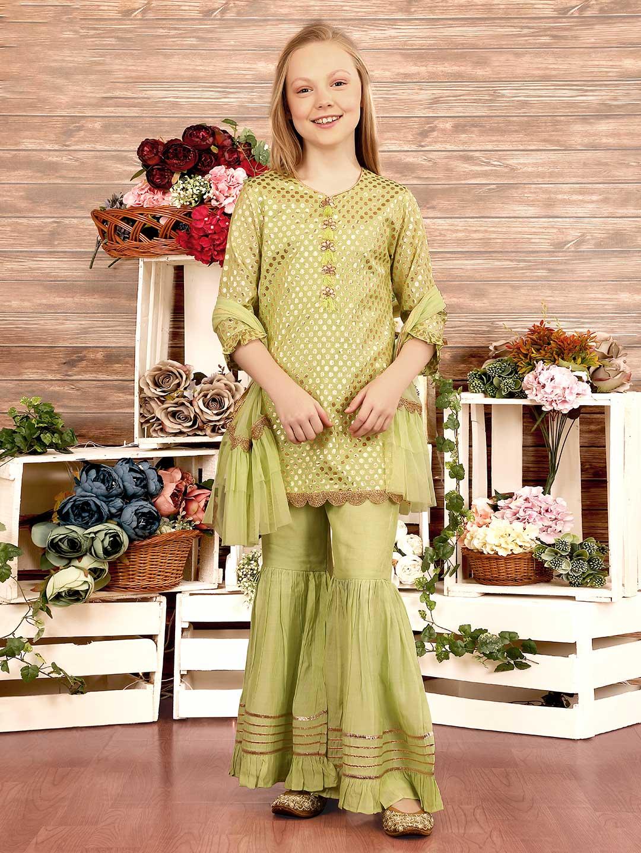 Light green cotton silk party wear sharara suit?imgeng=w_400
