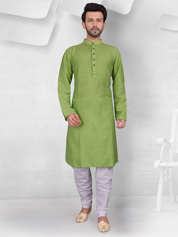 Light green hue cotton kurta suit?imgeng=w_400