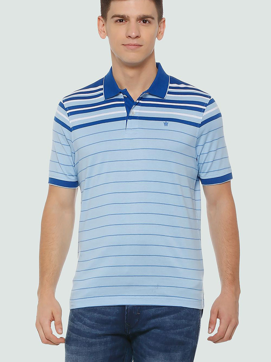 Louis Philippe blue casual t-shirt?imgeng=w_400