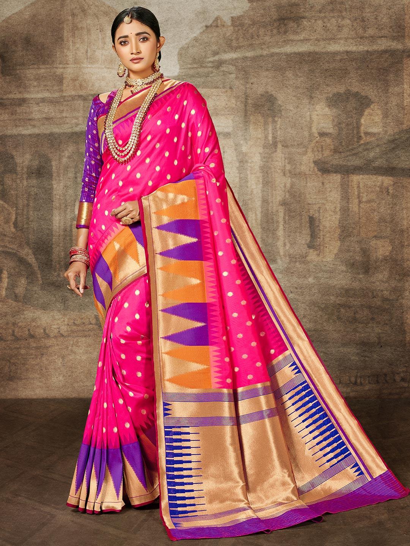Magenta banarasi silk wedding session sari?imgeng=w_400
