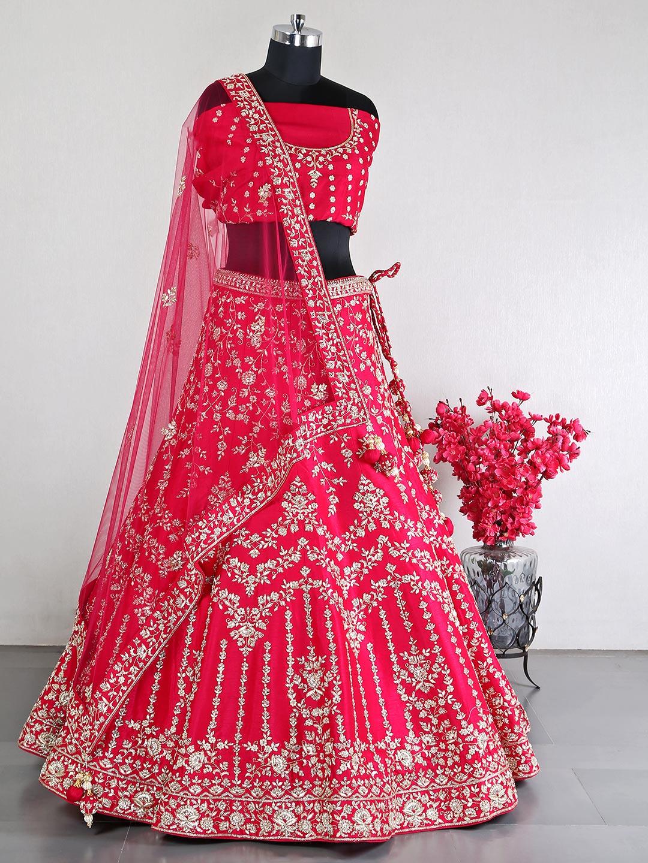 Magenta raw silk designer bridal lehenga choli?imgeng=w_400