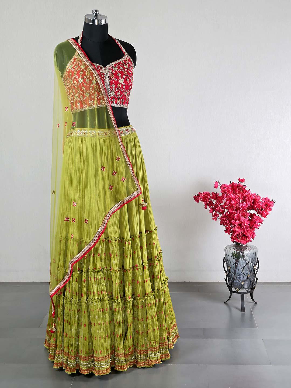 Magenta silk wedding lehenga choli for women ?imgeng=w_400
