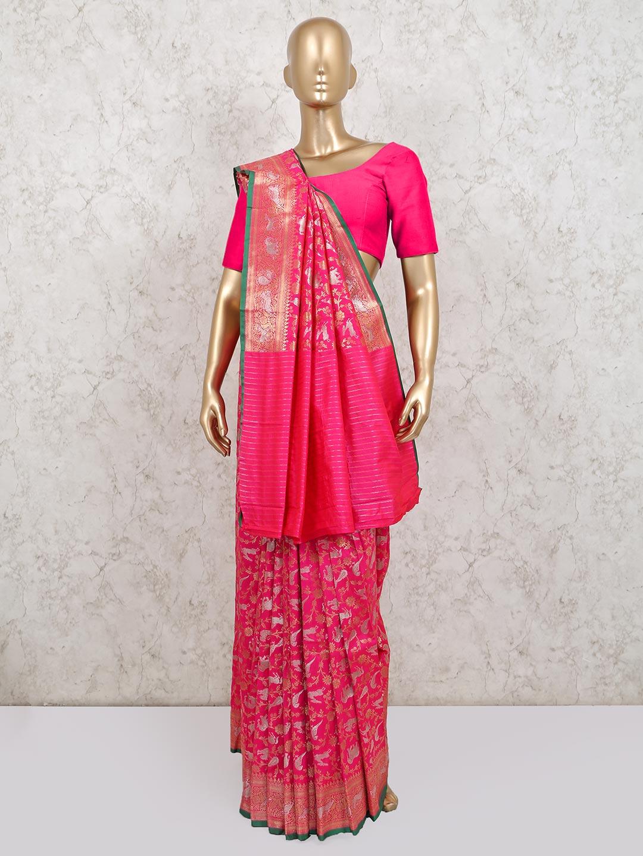 Magenta wedding wear banarasi silk saree?imgeng=w_400