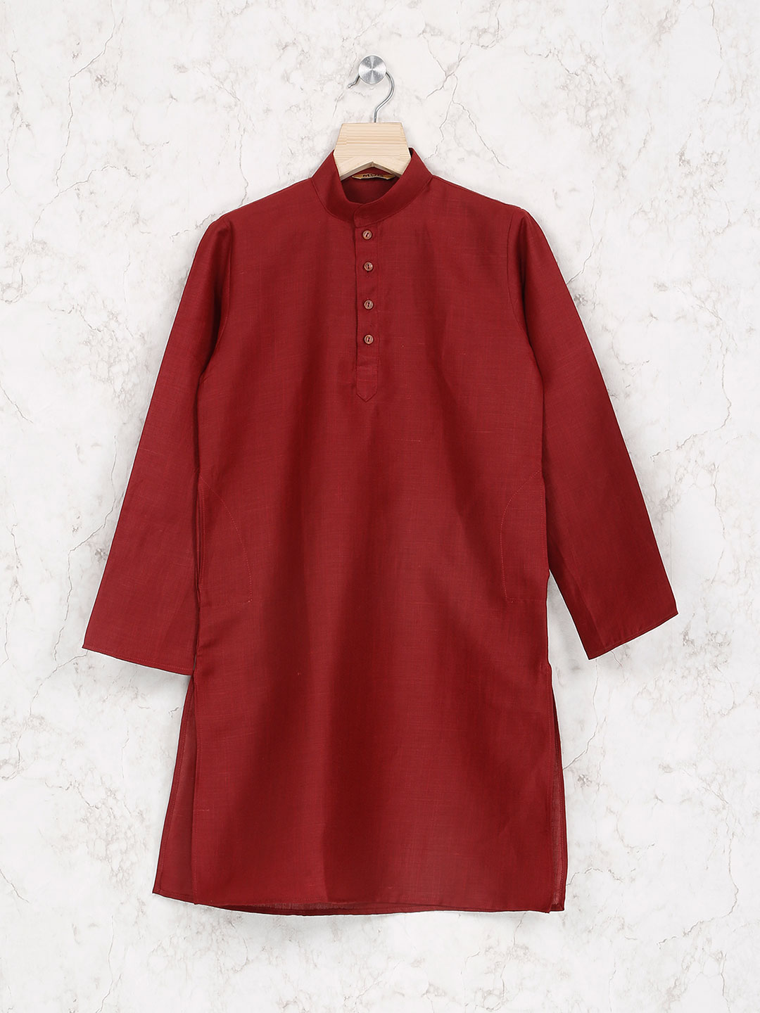 Maroon hue cotton kurta suit for party function?imgeng=w_400