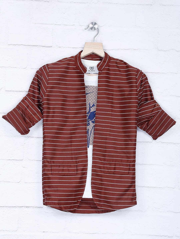Maroon stripe party occasion blazer?imgeng=w_400
