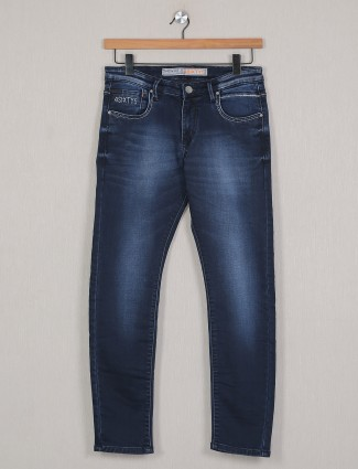 4SIXTY5 blue washed denim for mens