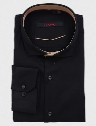 I Party black hue cotton shirt
