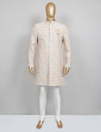 A hue of beige in cotton sherwani