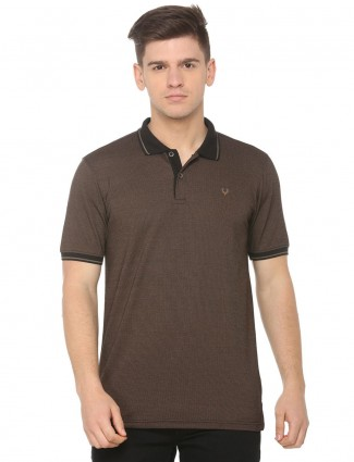 Allen Solly brown hued solid t-shirt
