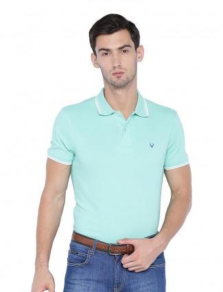 Allen Solly cotton fabric aqua hue t-shirt