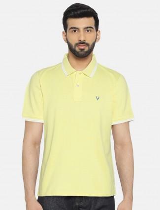 Allen Solly lemon yellow solid t-shirt