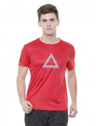 Allen Solly red hue cotton t-shirt