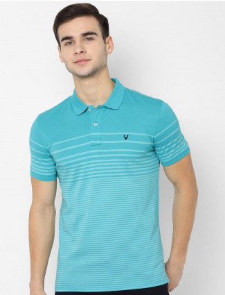 Allen Solly stripe aqua polo t-shirt
