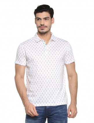 Allen Solly white printed t-shirt