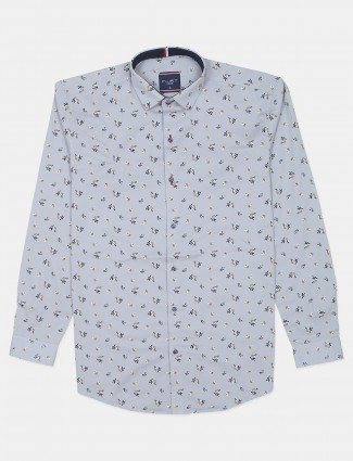 An printed style men lavender hue shirt