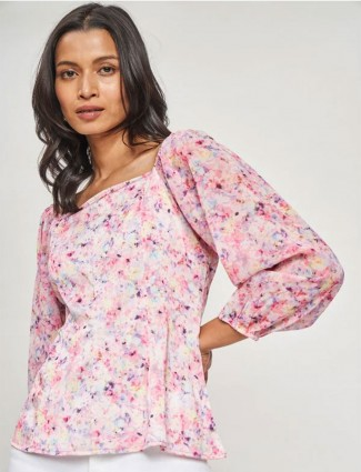 AND Multi Color Floral Printed Top