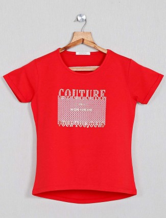 Astron women red top in cotton