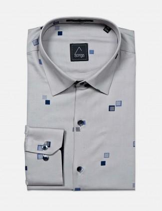 Avega grey printed pattern cotton shirt